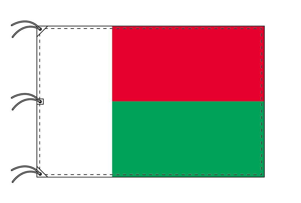 世界の国旗 マダカスカル国旗[200×300cm・高級テトロン製]NO.6号
