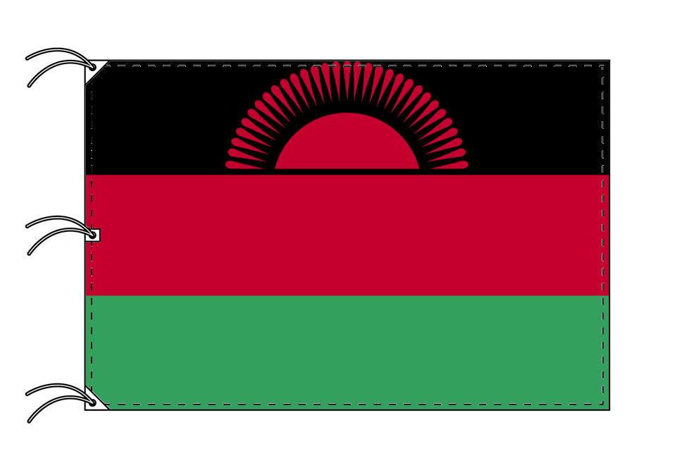 世界の国旗 マラウイ国旗[200×300cm・高級テトロン製]NO.6号