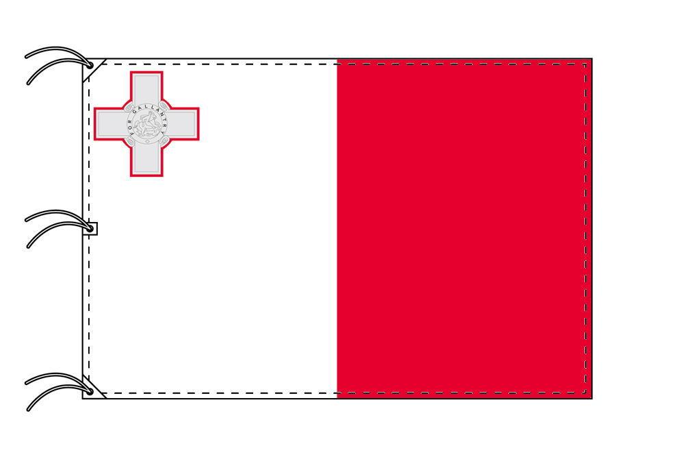 世界の国旗 マルタ国旗[200×300cm・高級テトロン製]NO.6号