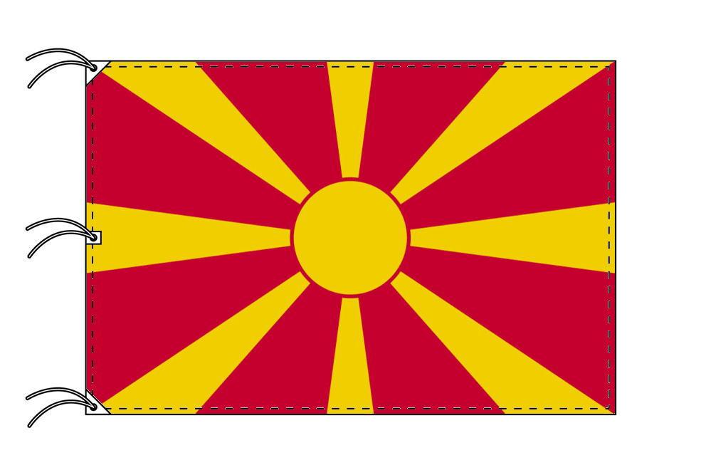 世界の国旗 マケドニア国旗[200×300cm・高級テトロン製]NO.6号