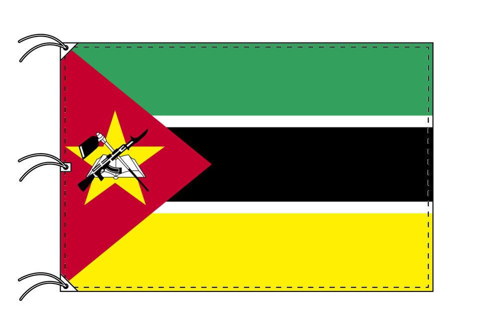 世界の国旗 モザンビーク国旗[200×300cm・高級テトロン製]NO.6号
