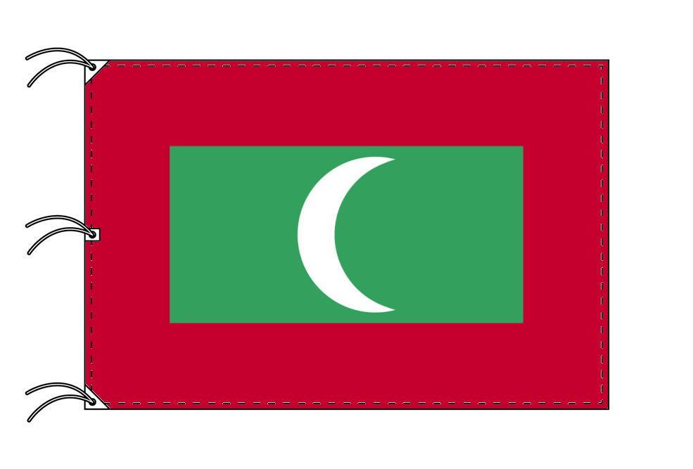 世界の国旗 モルジブ国旗[200×300cm・高級テトロン製]NO.6号