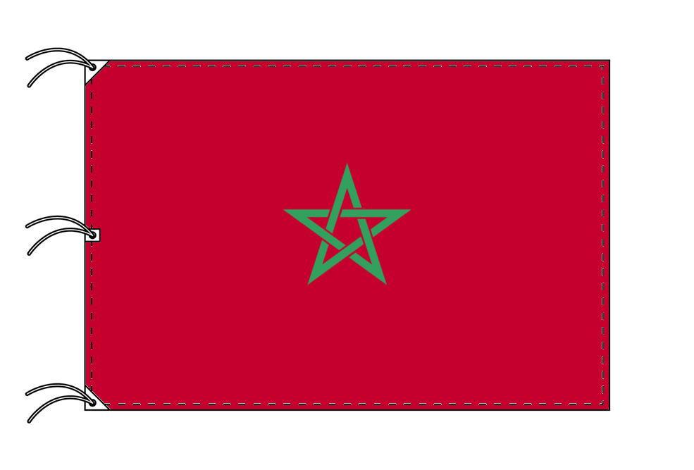 世界の国旗 モロッコ国旗[200×300cm・高級テトロン製]NO.6号