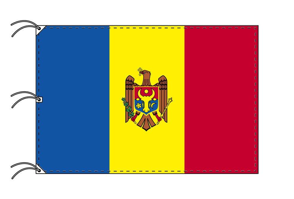 世界の国旗 モルドバ国旗[200×300cm・高級テトロン製]NO.6号