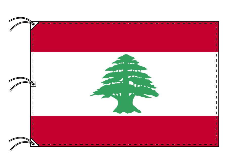 世界の国旗 レバノン国旗[200×300cm・高級テトロン製]NO.6号