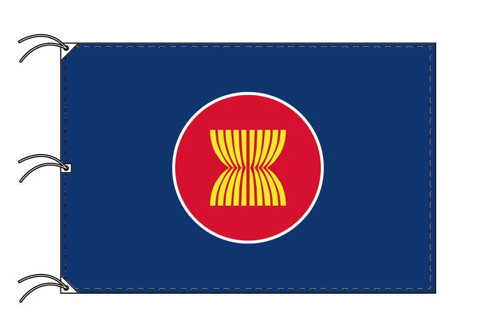 アセアン[東南アジア諸国連合]国旗[200×300cm・高級テトロン製]NO.6号