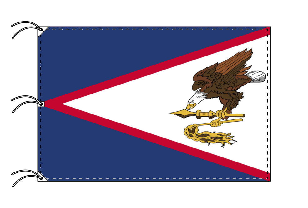 アメリカ領サモア 国旗[200×300cm・高級テトロン製]IOC加盟地域