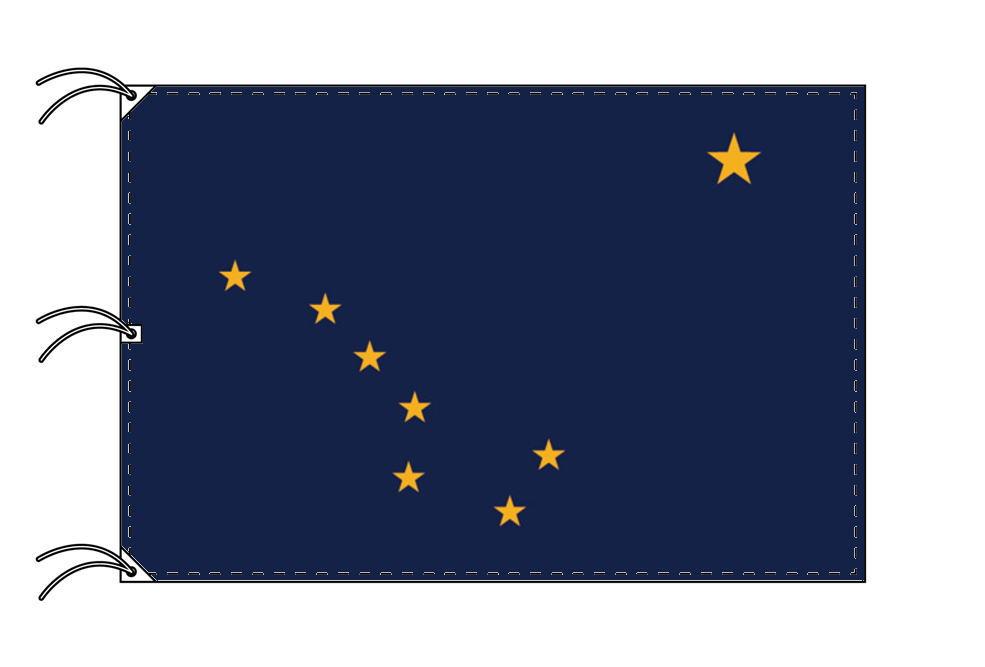 アラスカ州旗[アメリカ合衆国の州旗・140×210cm・高級テトロン製]