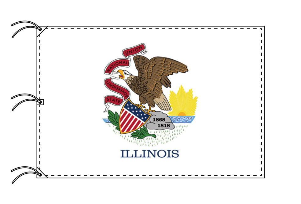 イリノイ州旗[アメリカ合衆国の州旗・140×210cm・高級テトロン製]