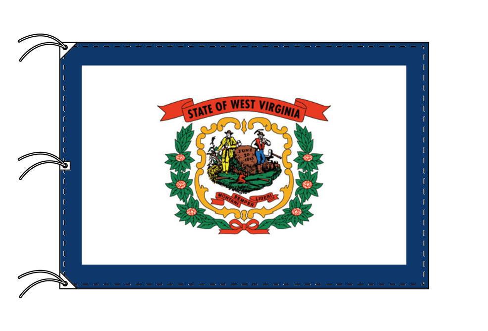 ウェストバージニア州旗[アメリカ合衆国の州旗・140×210cm・高級テトロン製]
