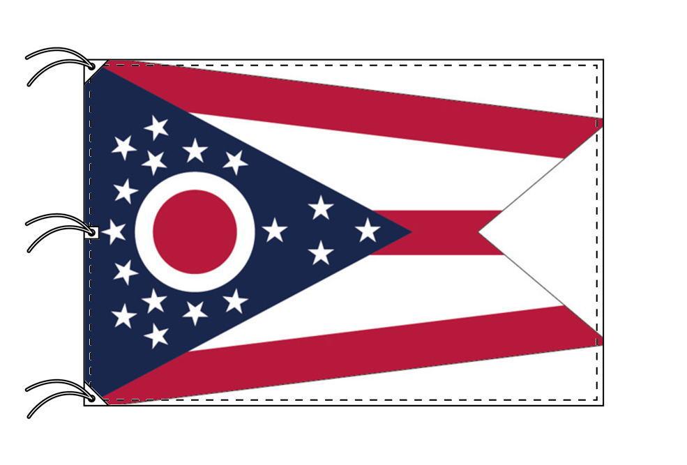 オハイオ州旗[アメリカ合衆国の州旗・140×210cm・高級テトロン製]