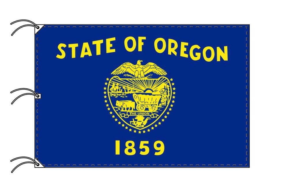 オレゴン州旗[アメリカ合衆国の州旗・140×210cm・高級テトロン製]