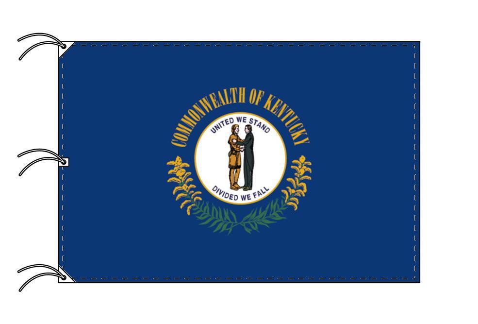 ケンタッキー州旗[アメリカ合衆国の州旗・140×210cm・高級テトロン製]