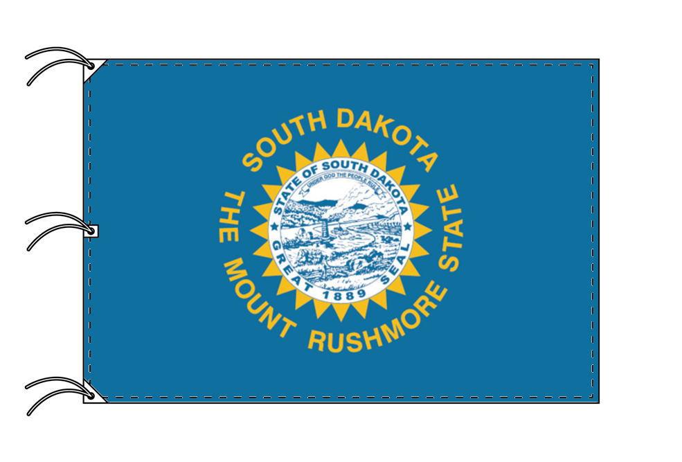 サウスダコタ州旗[アメリカ合衆国の州旗・140×210cm・高級テトロン製]
