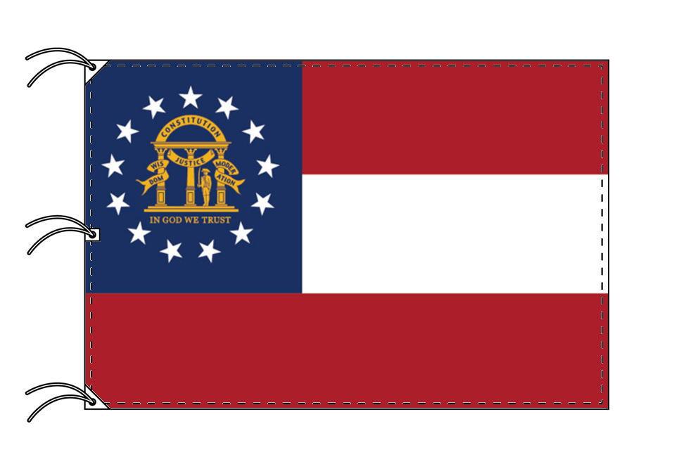 ジョージア州旗[アメリカ合衆国の州旗・140×210cm・高級テトロン製]