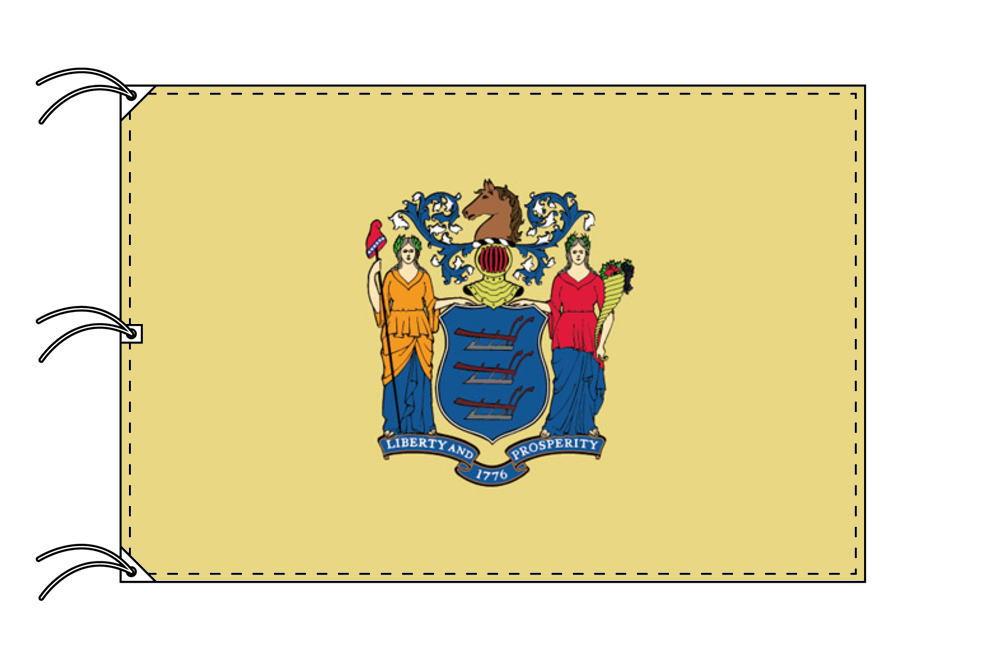 ニュージャージー州旗[アメリカ合衆国の州旗・140×210cm・高級テトロン製]
