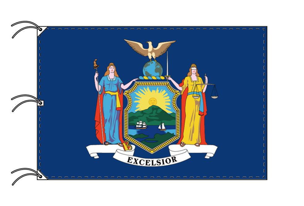 ニューヨーク州旗[アメリカ合衆国の州旗・140×210cm・高級テトロン製]