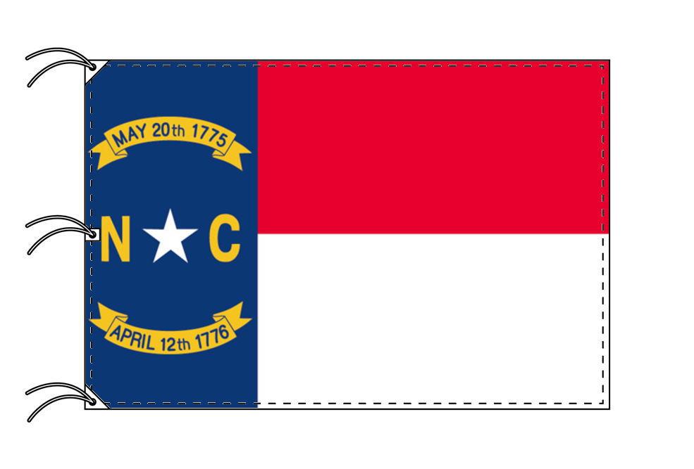ノースカロライナ州旗[アメリカ合衆国の州旗・140×210cm・高級テトロン製]