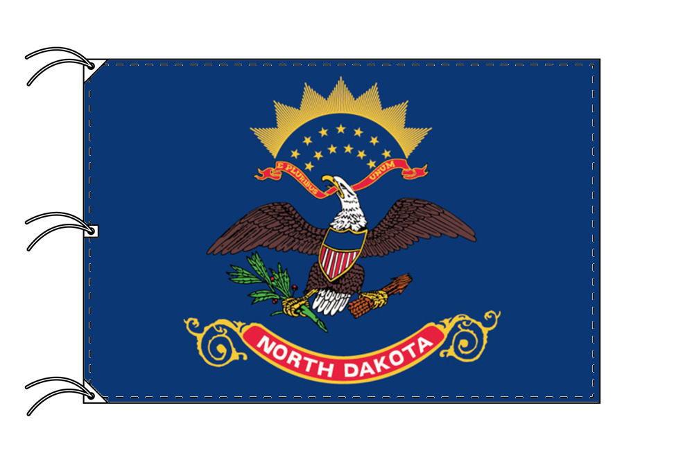ノースダコタ州旗[アメリカ合衆国の州旗・140×210cm・高級テトロン製]