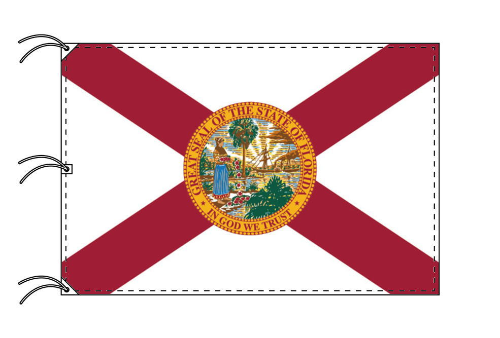 フロリダ州旗[アメリカ合衆国の州旗・140×210cm・高級テトロン製]