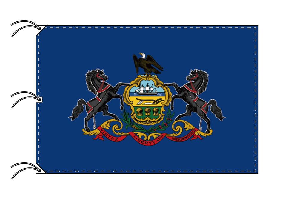 ペンシルベニア州旗[アメリカ合衆国の州旗・140×210cm・高級テトロン製]