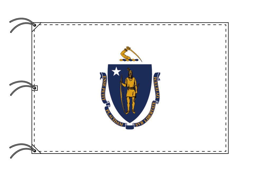 マサチューセッツ州旗[アメリカ合衆国の州旗・140×210cm・高級テトロン製]