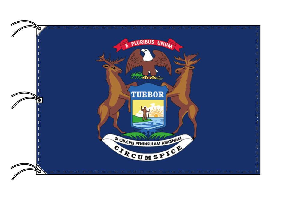 ミシガン州旗[アメリカ合衆国の州旗・140×210cm・高級テトロン製]