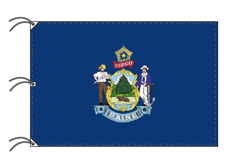 メイン州旗[アメリカ合衆国の州旗・140×210cm・高級テトロン製]