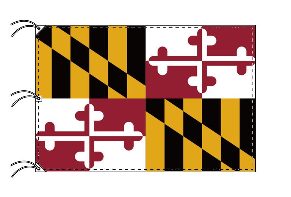 メリーランド州旗[アメリカ合衆国の州旗・140×210cm・高級テトロン製]