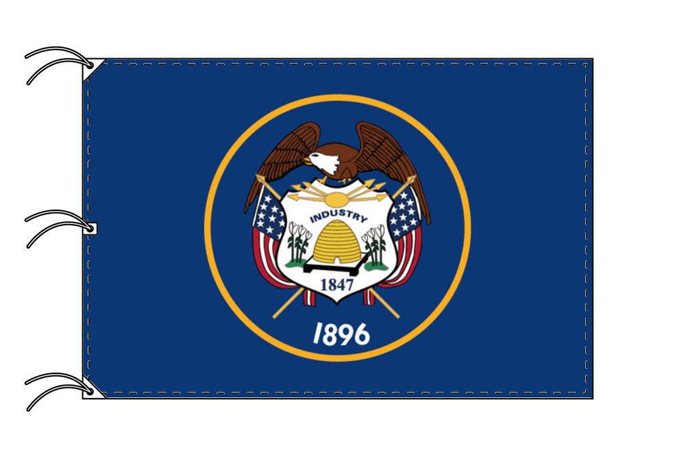 ユタ州旗[アメリカ合衆国の州旗・140×210cm・高級テトロン製]