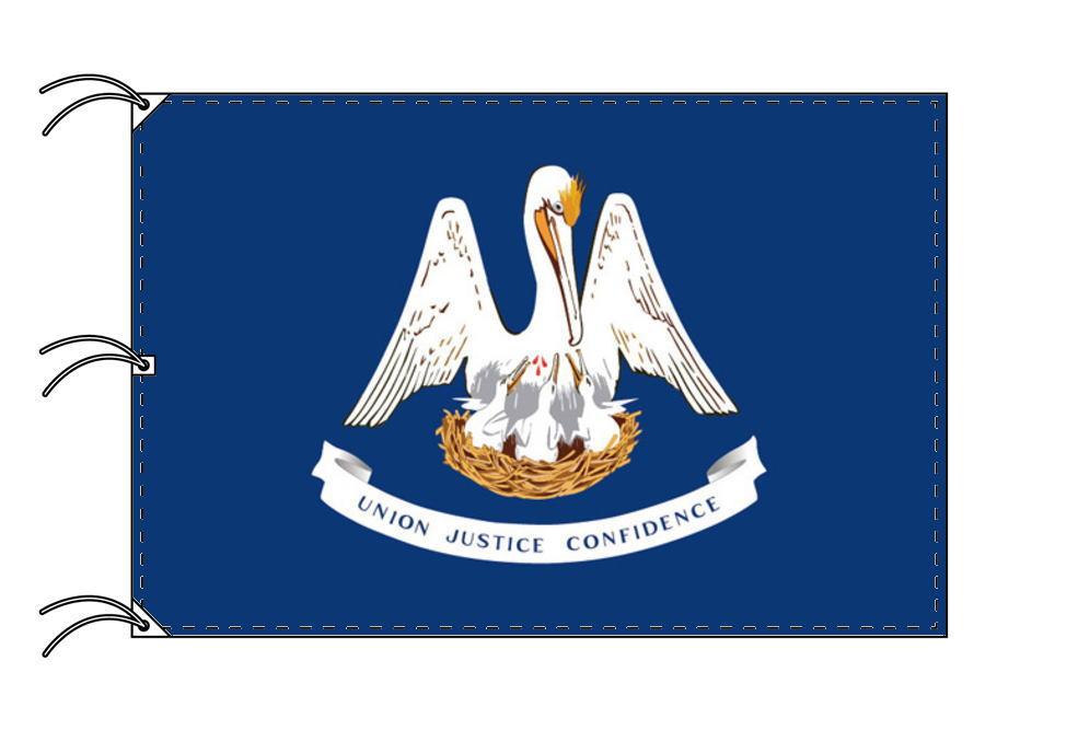 ルイジアナ州旗[アメリカ合衆国の州旗・140×210cm・高級テトロン製]