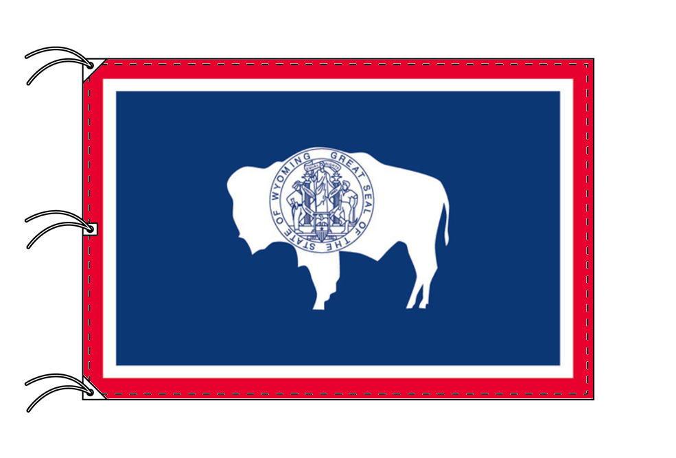 ワイオミング州旗[アメリカ合衆国の州旗・140×210cm・高級テトロン製]