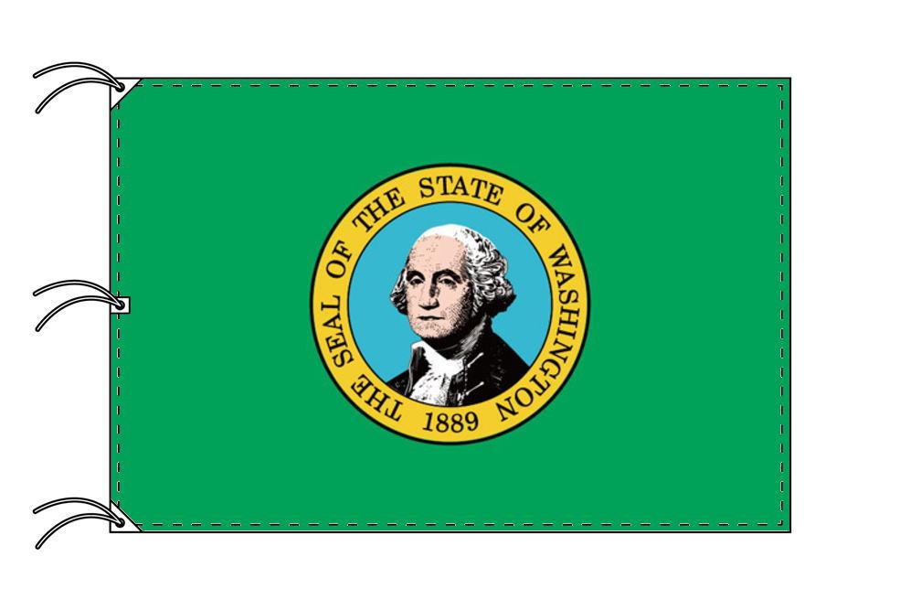 ワシントン州旗[アメリカ合衆国の州旗・140×210cm・高級テトロン製]