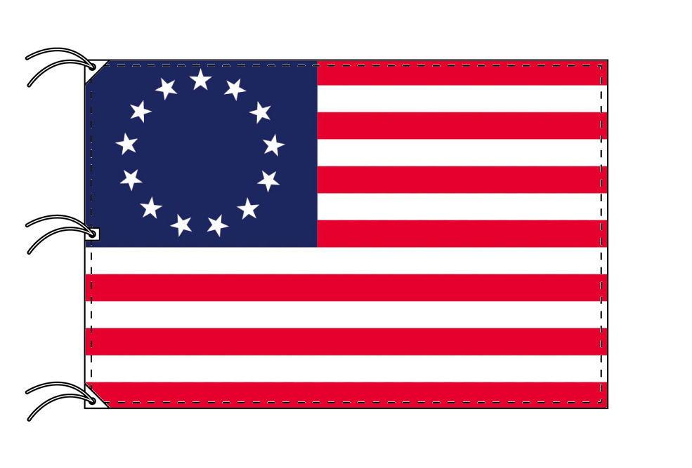 アメリカ 国旗 13州旗 独立時の星条旗(1777年)[140×210cm・高級テトロン製]受注生産