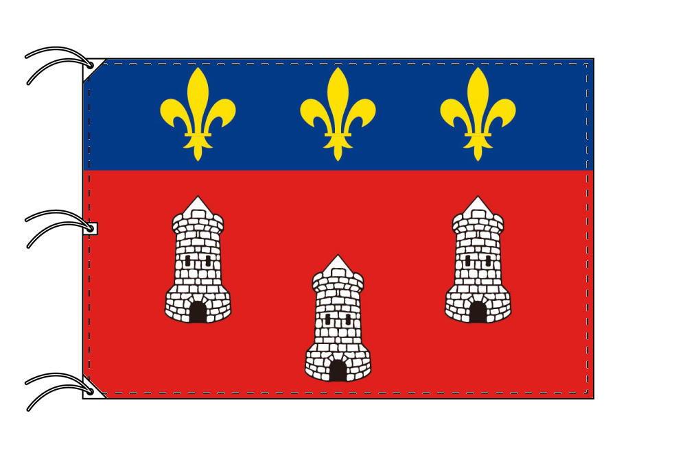 トゥール市旗 フランスの都市 [140×210cm・高級テトロン製]受注生産