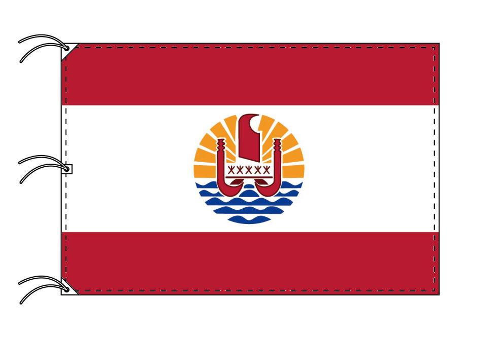 ポリネシア 国旗 フランス領[140×210cm・高級テトロン製]受注生産