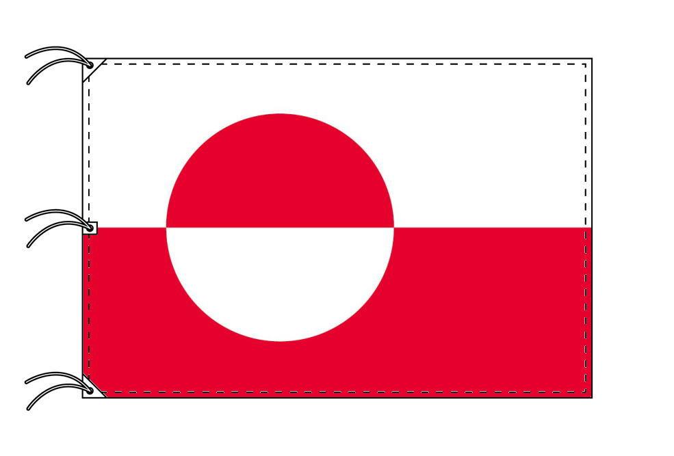 グリーンランド 国旗 デンマーク領[140×210cm・高級テトロン製]受注生産