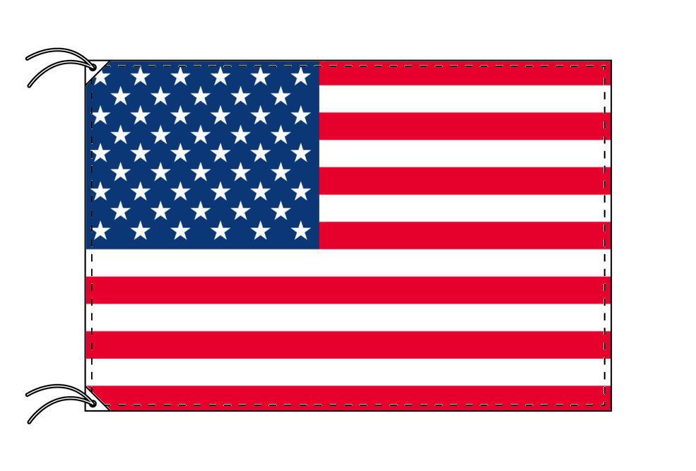 アメリカ・高級大型国旗セット(サイズ90×135cm・ポール・新型フロアスタンド付き)