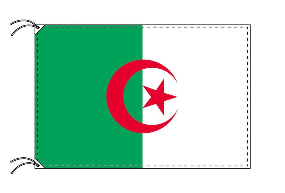 アルジェリア・国旗セット[DX]【アルミ合金ポール・取付部品付・テトロン国旗 サイズ70×105cm】安心の日本製