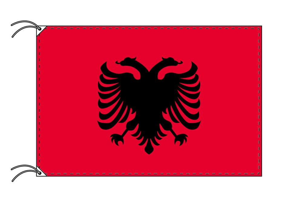 アルバニア・国旗セット[DX]【アルミ合金ポール・取付部品付・テトロン国旗 サイズ70×105cm】安心の日本製