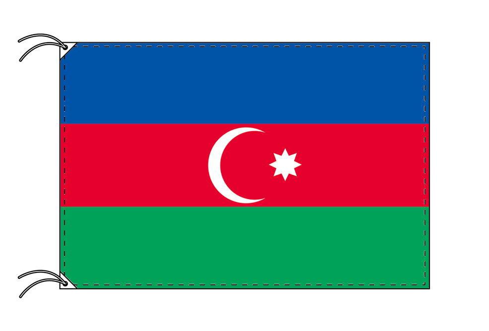 アゼルバイジャン・国旗セット[DX]【アルミ合金ポール・取付部品付・テトロン国旗 サイズ70×105cm】安心の日本製