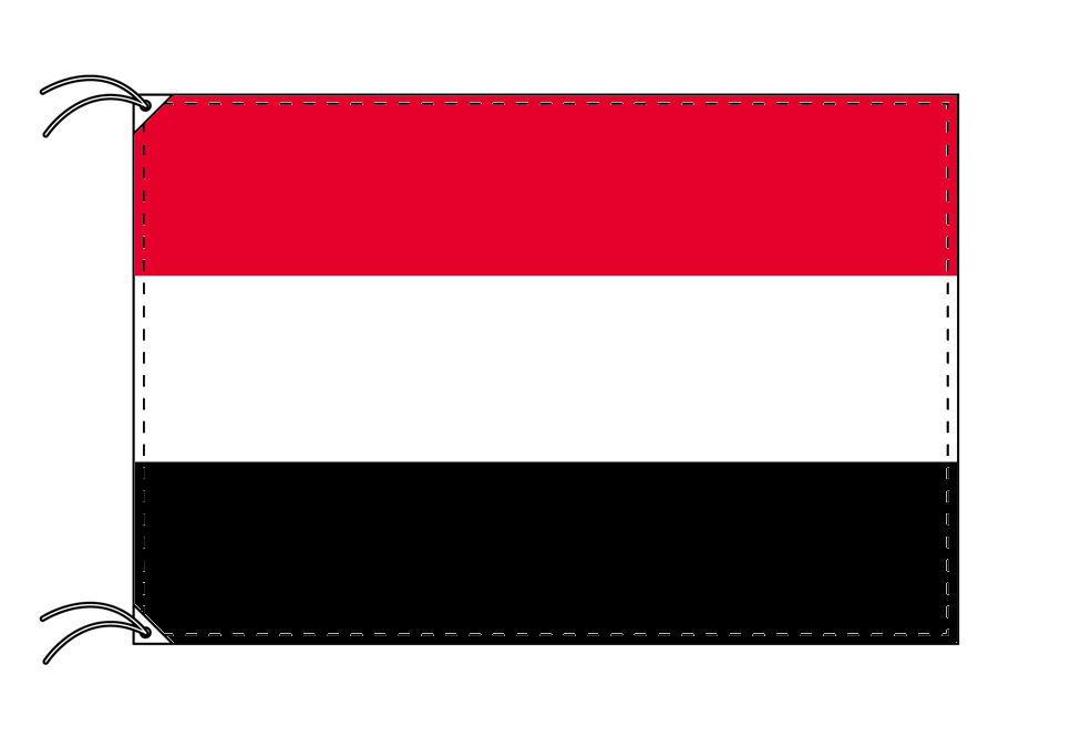 イエメン・高級大型国旗セット(サイズ90×135cm・ポール・新型フロアスタンド付き)