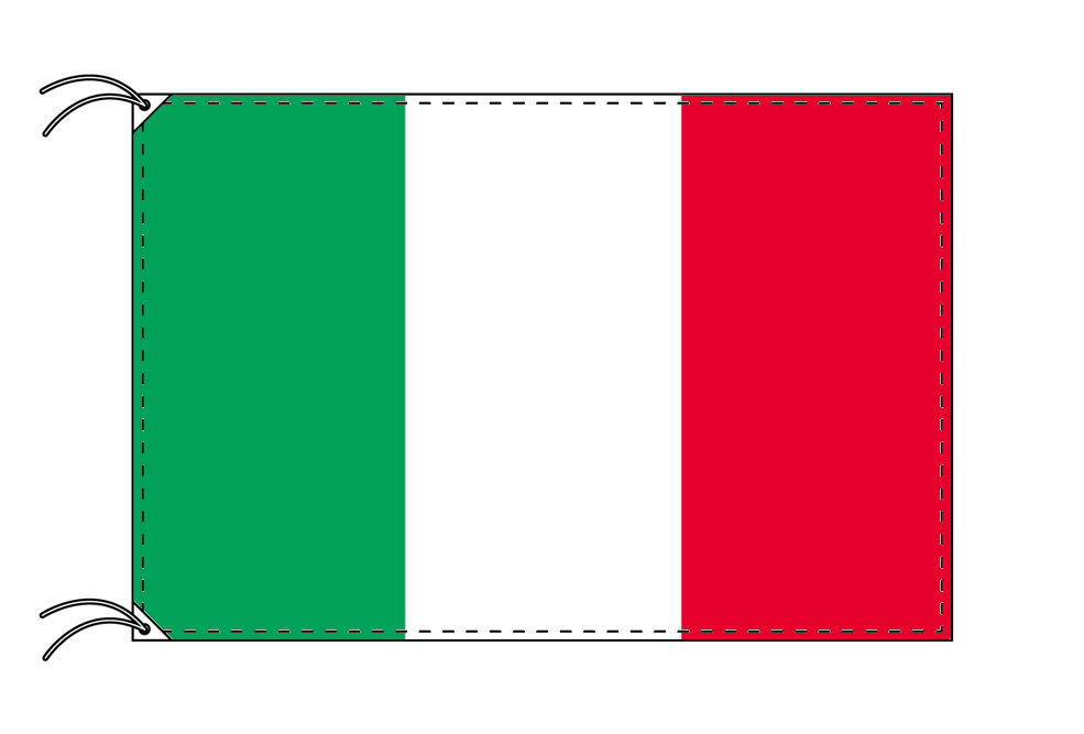 イタリア・高級国旗セット(国旗70×105cm・ポール・竿頭・新型フロアスタンド付き)
