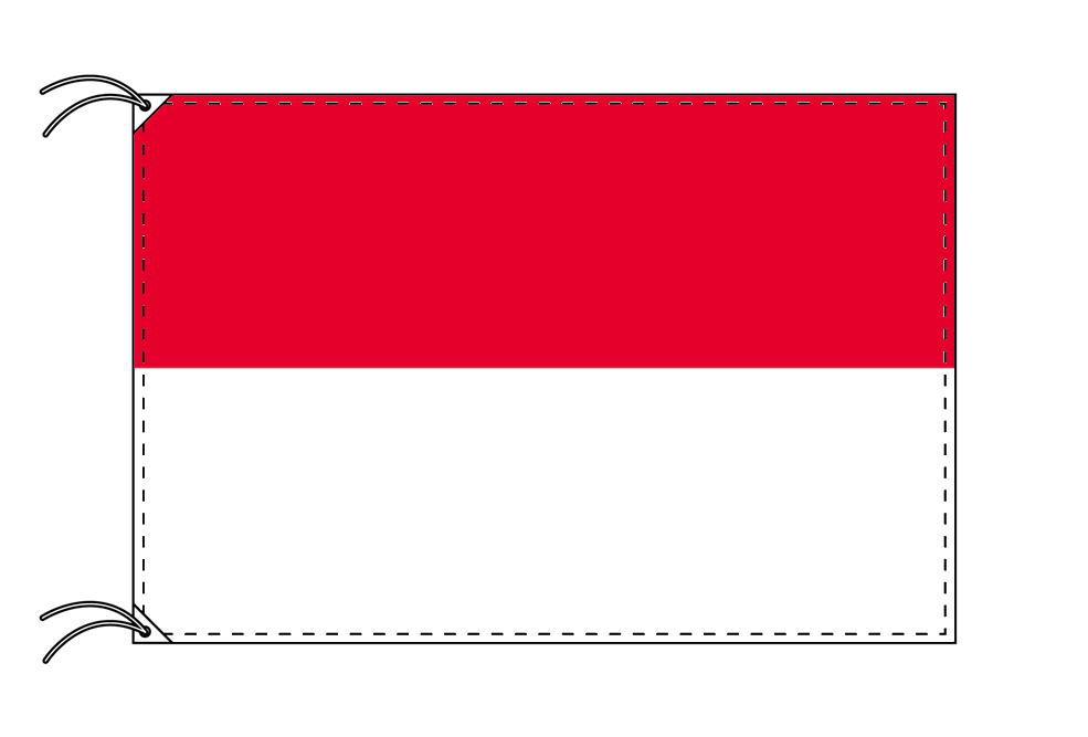 世界の国旗 インドネシア国旗[90×135cm・高級テトロン製]安心の日本製