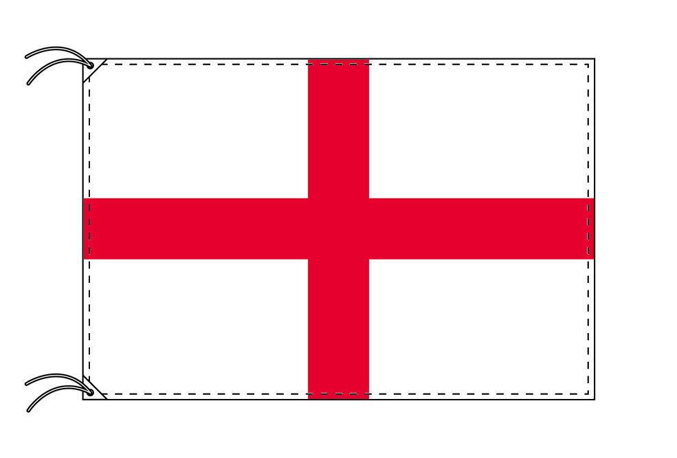 イングランド・高級大型国旗セット(サイズ90×135cm・ポール・新型フロアスタンド付き)