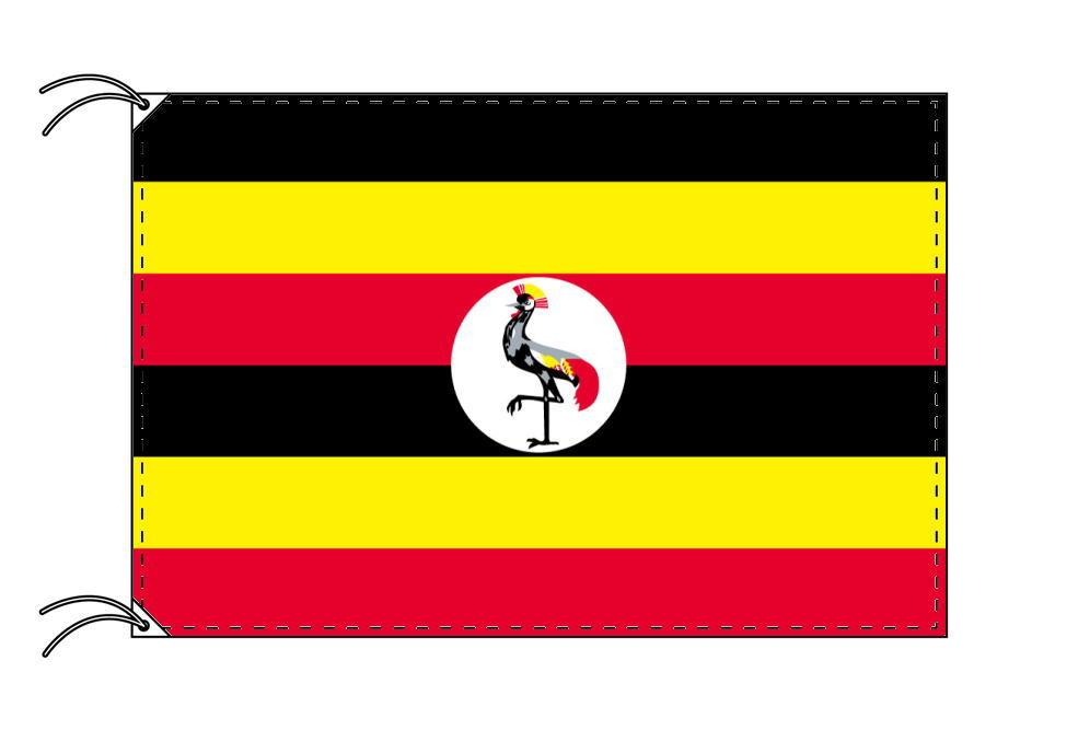 ウガンダ・国旗セット[DX]【アルミ合金ポール・取付部品付・テトロン国旗 サイズ70×105cm】安心の日本製