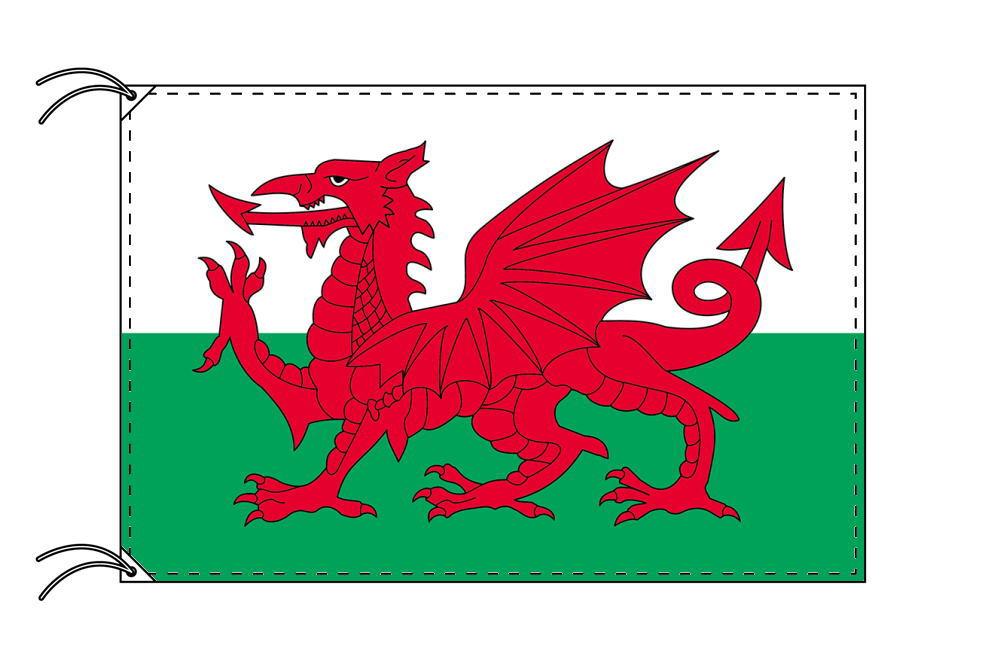 ウェールズ・高級国旗セット(国旗70×105cm・ポール・竿頭・新型フロアスタンド付き)
