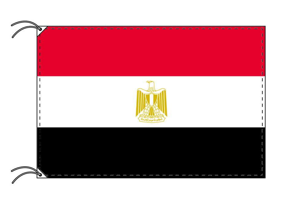 エジプト・国旗セット[DX]【アルミ合金ポール・取付部品付・テトロン国旗 サイズ70×105cm】安心の日本製