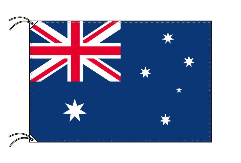 オーストラリア・国旗セット[DX]【アルミ合金ポール・取付部品付・テトロン国旗 サイズ70×105cm】安心の日本製