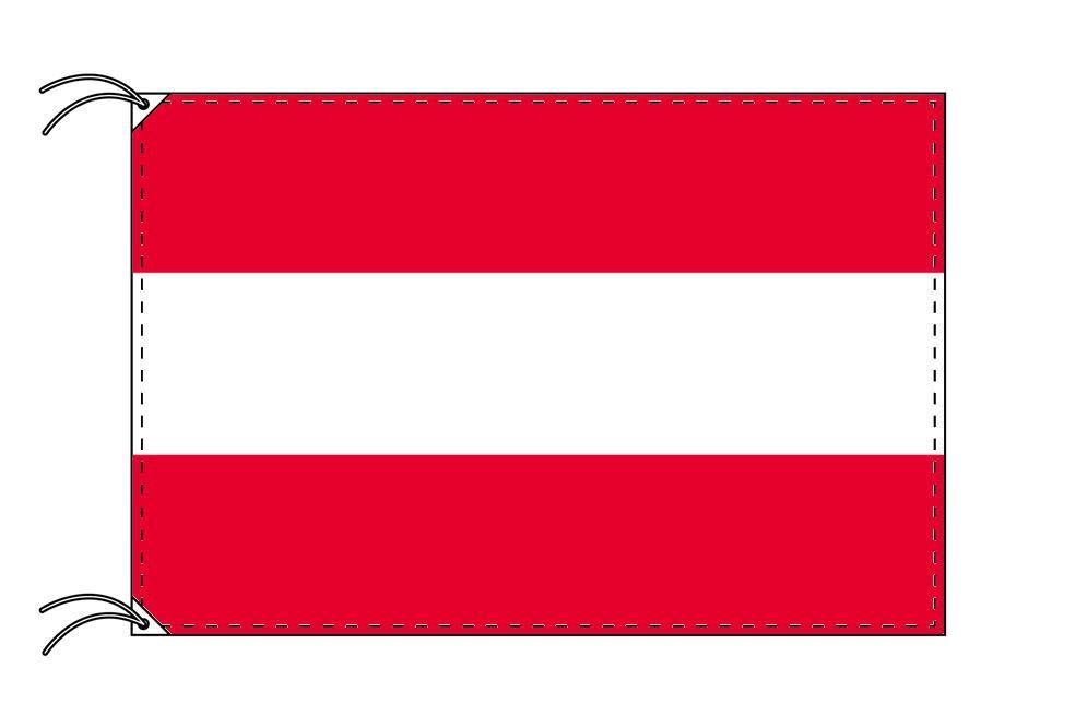 オーストリア 国旗 100×150cm テトロン製 日本製 世界の国旗シリーズ